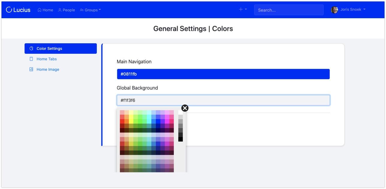 screenshot General settings