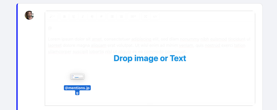 screenshot drag and drop images